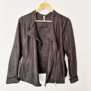 Miilla vegan leather moto jacket